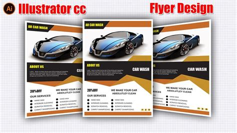 flyer design illustrator tutorial flyer design tutorial flyer design in illustrator cc 2017