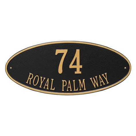 Address Wall Plaques Free Shipping - large wall plaque for 2 line address