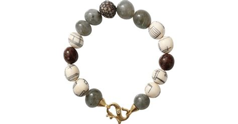 bead wooly p 233 an fossilized woolly mammoth bead bracelet lyst