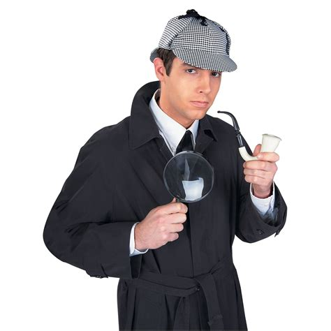 How To Make A Detective Hat Out Of Paper - sherlock detective kit hat pipe magnifying glass