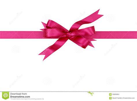 Pink Ribbon And Ribbon pink gift ribbon bow horizontal isolated on white