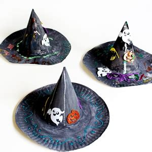halloween craft  kids paper plate witch hat cutesy