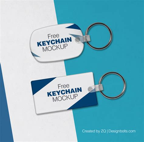 2 Free Keychain / Key Ring Mock up PSD Files