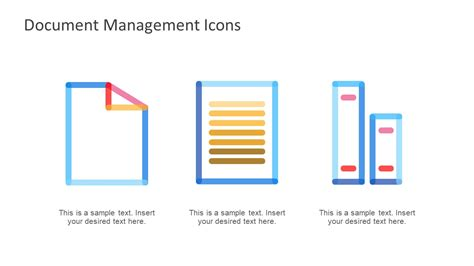 Document Management Powerpoint Icons Slidemodel Doc Powerpoint Templates