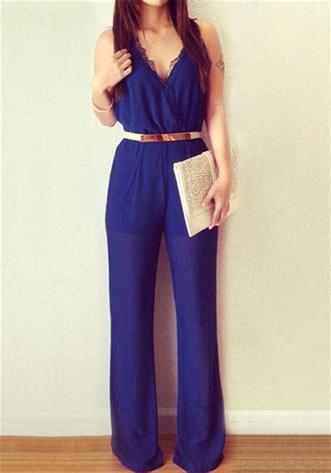 Blouse Catol 48223 royal blue jumpsuit baggage clothing