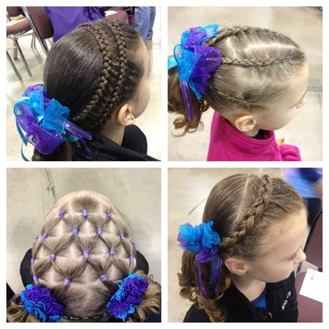 how to wear short hair for gymnastic meet gymnastic meet hairstyles gymnastics meets pinterest