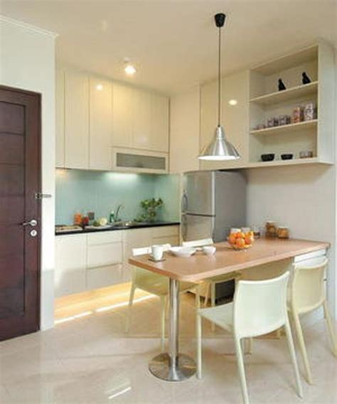 desain kitchen set untuk dapur mungil dapur mungil dengan meja makan desain dapur mungil
