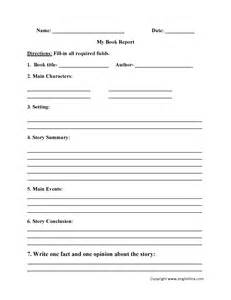 Book Reports For Seventh Graders by 2nd Grade Book Report Template