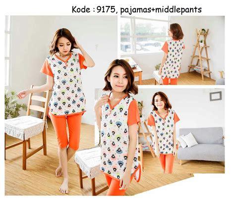 Baju Murah Harajuku Set 9175 100rb jual baju tidur wanita dewasa remaja korea