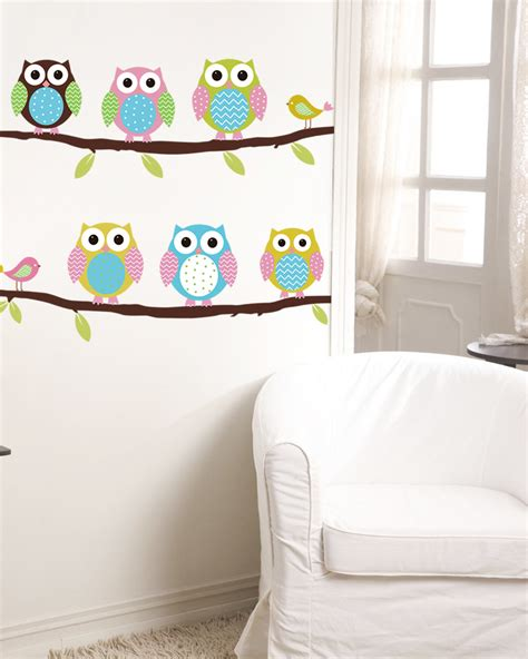 animal owl tree vinyl wall stickers for rooms