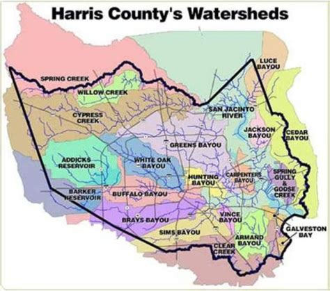 harris county map texas oct 11 wildlife in the flood zone