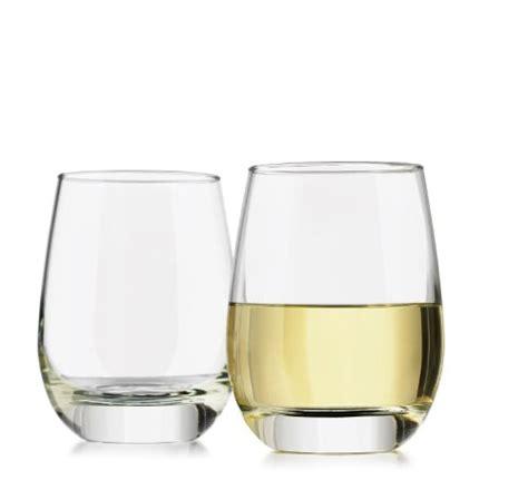 heavy wine glasses libbey 4 piece alyse stemless heavy base white wine
