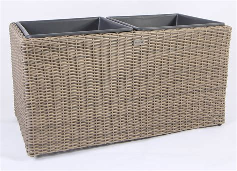 Resin Wicker Planters by New Large Square Resin Wicker Planter With 2 Plastic