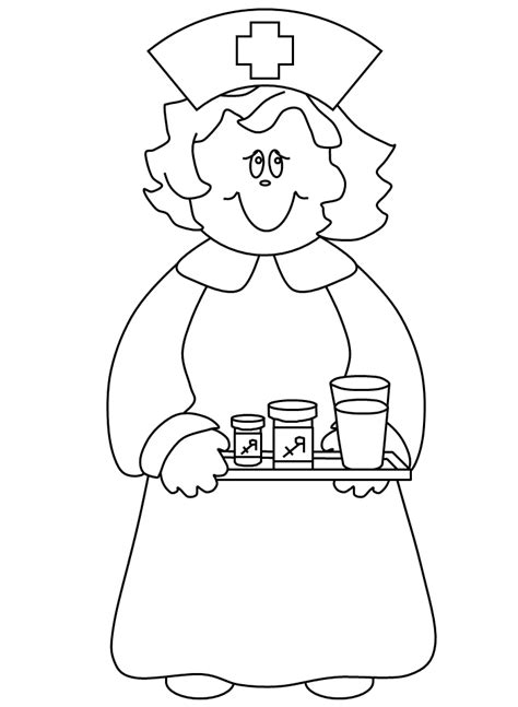 nurse coloring pages coloring home