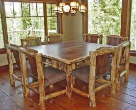 Log Kitchen Tables Log Furniture Ideas For Your Place Home Caprice