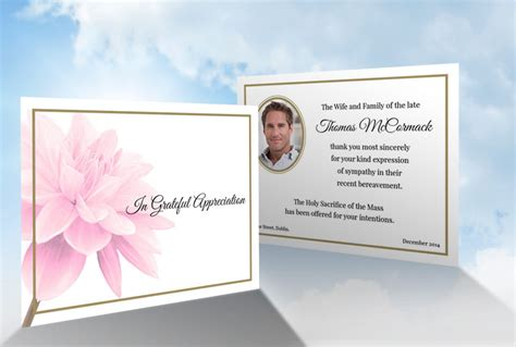 funeral acknowledgement cards template acknowledgement thank you cards ordering etiquette