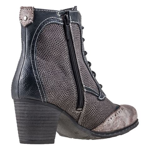 mustang zip ankle boot womens ankle boots in navy grey