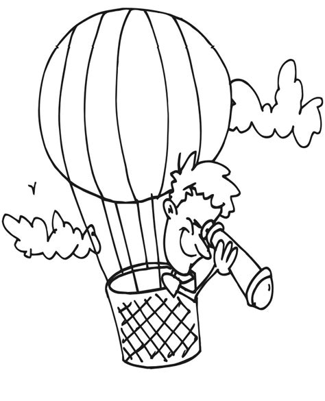 Hot Air Balloon Printable Coloring Pages Air Balloon Coloring Pages