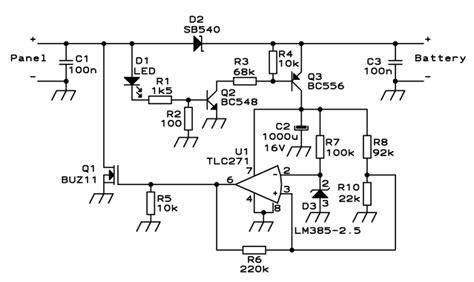 schemat regulatora ladowania akumulatora 12v z baterii slone