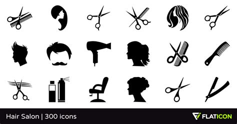 Hairstyles Booking Apps by Hair Salon 300 Free Icons Svg Eps Psd Png Files