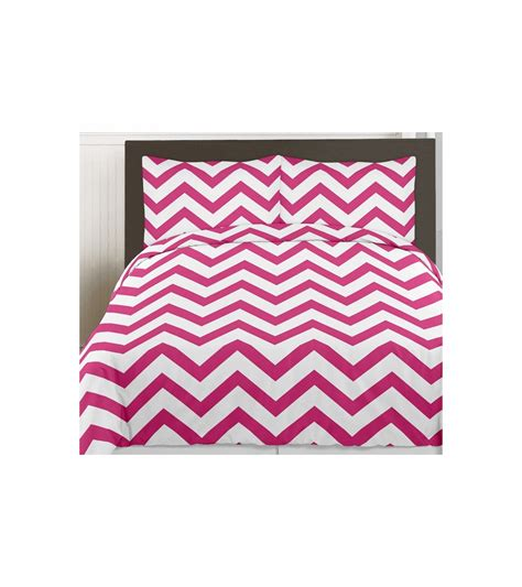 chevron twin bedding sweet jojo designs hot pink white chevron twin bedding set