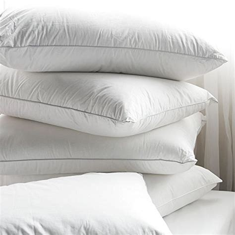 bed pillows made in usa 4 pack 100 cotton down alternative hypoallergenic bed