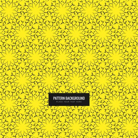 yellow pattern ai floral pattern yellow pattern vector free download