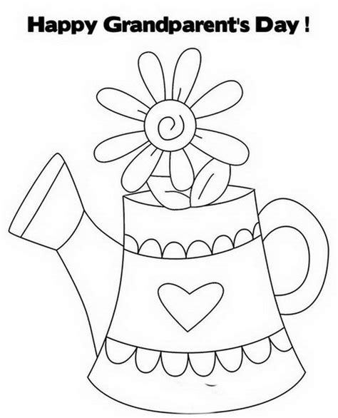 Happy Grandparents Day Coloring Pages happy grandparent s day coloring pages family