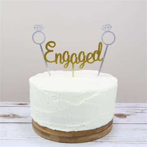 Engagement Wedding Cakes by Engagement Cake Topper Prezzely
