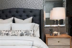 Blue Tufted Bed by Blue Tufted Headboard Bedroom