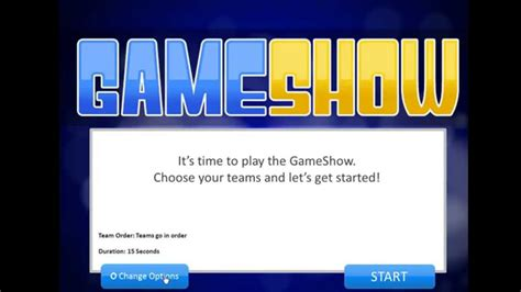 Introduction To The Powerpoint Gameshow Template Youtube Show Templates For Powerpoint
