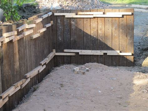 Sleeper Wall Design by Retaining Wall With Azobe Railway Sleepers