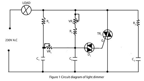 L Dimmer Using Triac by Gt Circuits Gt Light Dimmer Using Diac Or Transistor And