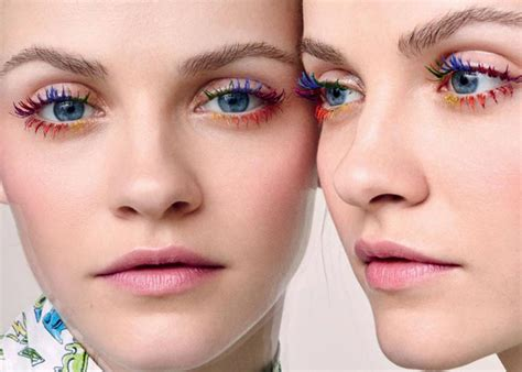 whats trending in the beauty world rainbow lashes are taking the beauty world by storm