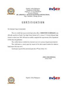 Certification Letter Good Moral Character certificate of good moral sample letter of good moral character from