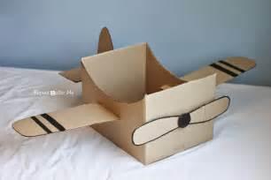 cardboard box airplane repeat crafter me bloglovin