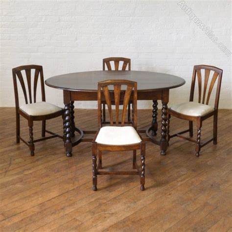 Next Oak Dining Table Oak Dining Table Four Chairs Antiques Atlas