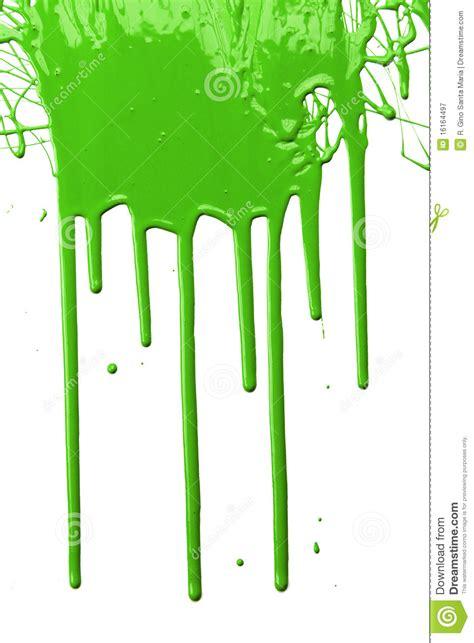 Arca Transparent Gloss Green Wb By het groene druipen de verf royalty vrije stock