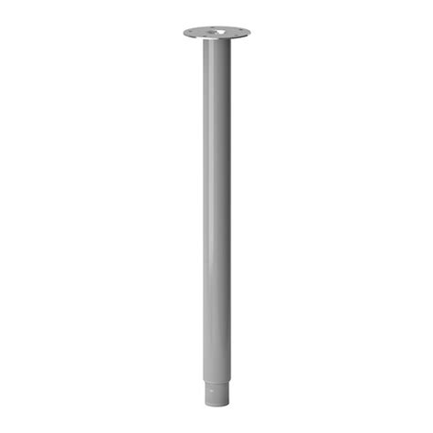 ikea table legs olov leg adjustable silver color ikea