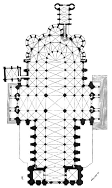 Cruciform Floor Plan by Chartres Cathedral Wikipedia