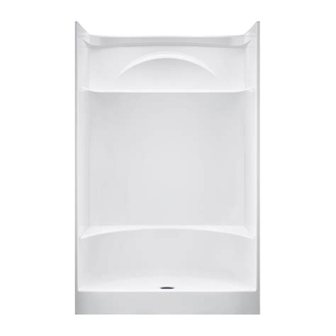 Integrated Shower Units Shop Delta White Acrylic One Shower With Integrated
