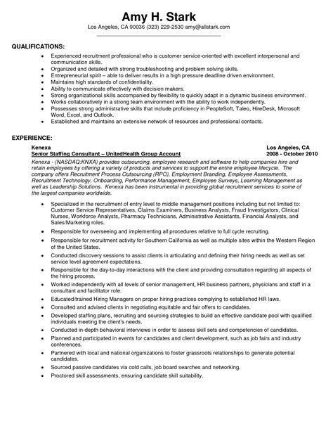 Profile Resume Exles For Customer Service Excellent Customer Service Skills Resume Sle Recentresumes