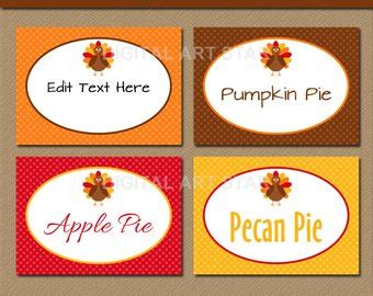 editable place card template thanksgiving popular items for thanksgiving food on etsy