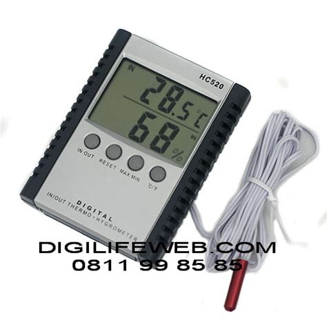 Thermometer Hygrometer Thermo Hygro Manual Suhu Dan Kelembapan hygrometer thermometer hc520