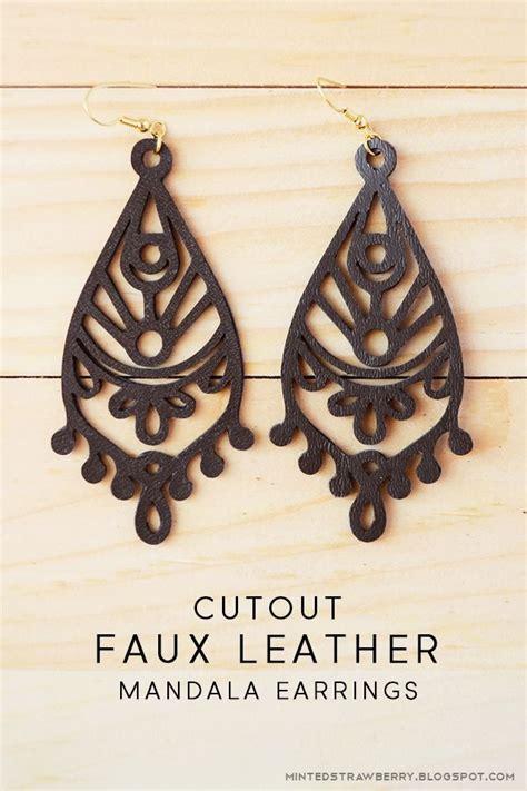 Faux Leather Earring diy cutout faux leather earrings cricut projects