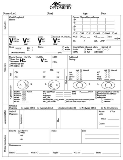 Exam Form Flickr Photo Sharing Optometry Form Template