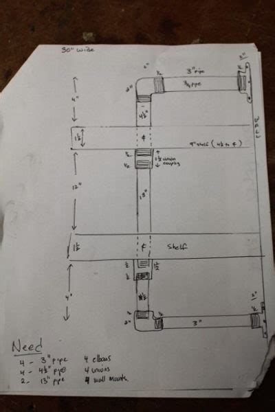 Gas Pipe Wall Shelf A Concord Carpenter Gas Pipe Shelving