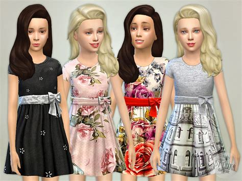 design clothes the sims 4 the sims resource designer dresses collection p04 by