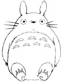 my neighbor totoro coloring pages az sketch template - Neighbor Totoro Coloring Pages