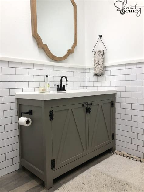 farmhouse bathroom vanity  woodworking plancom